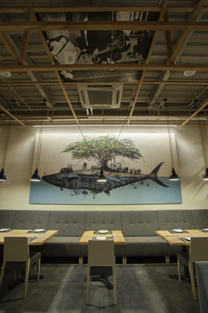 طراحی روشنایی رستوران بریم