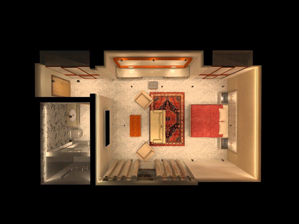طراحی روشنایی داخلی اتاق خواب
