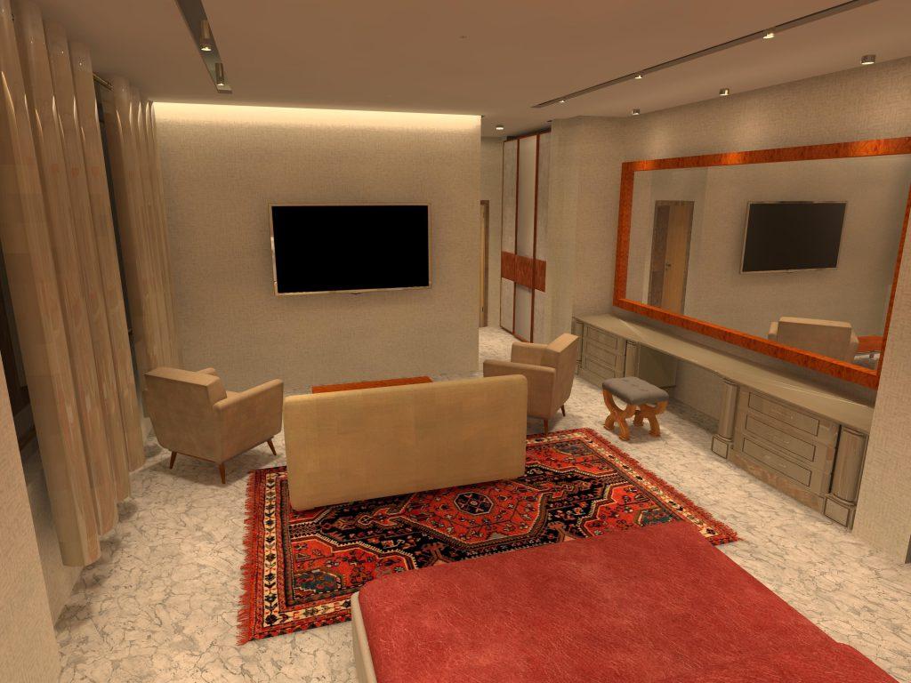 طراحی روشنایی اتاق خواب