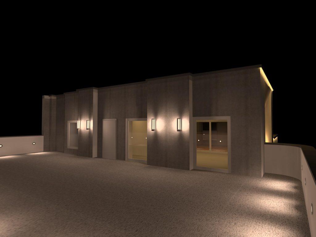 طراحی روشنایی بام