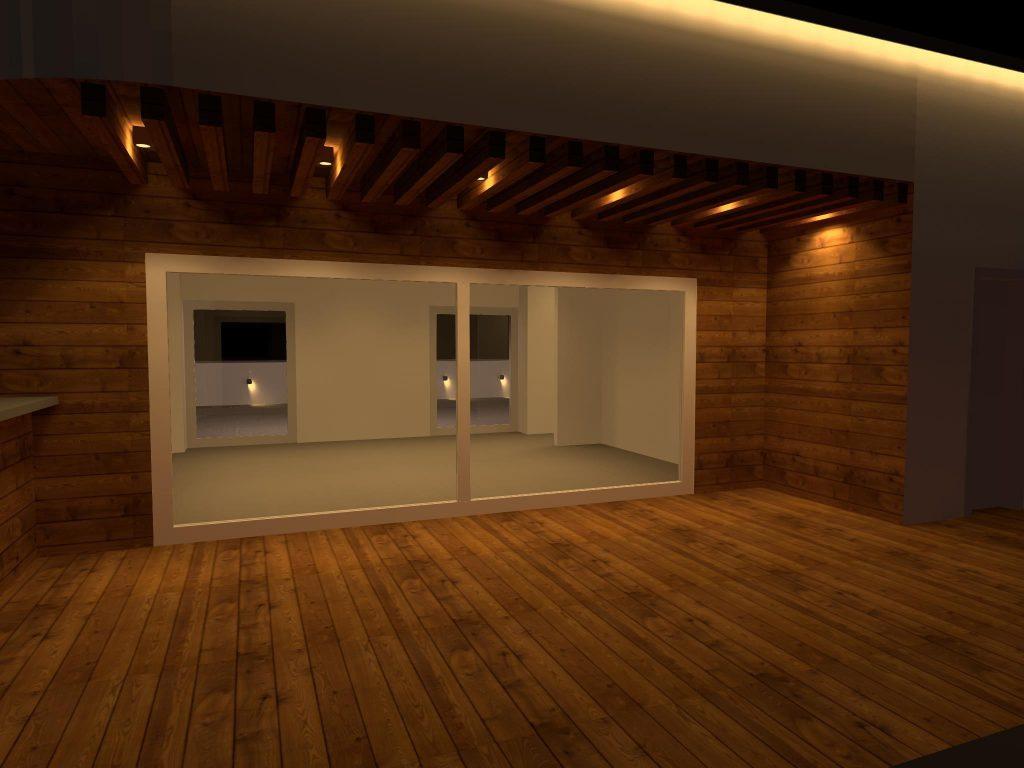 طراحی روشنایی تراس