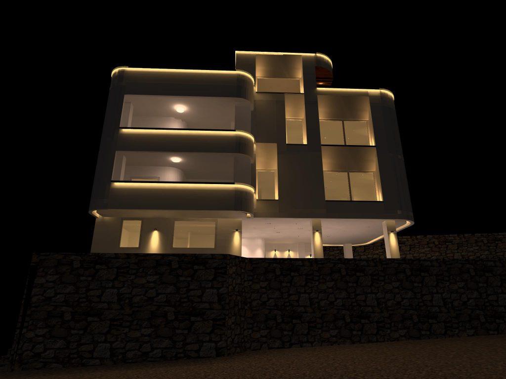 طراحی روشنایی ویلا