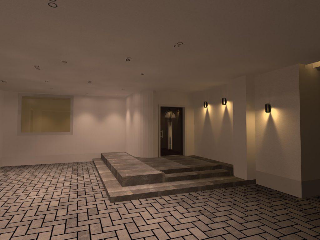 طراحی روشنایی خارجی ویلا